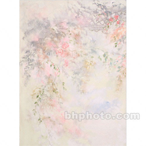 Won Background Muslin Xcanvas Background - Pink Floral - 10x20'