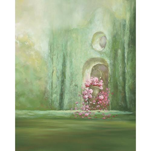 Won Background Muslin Xcanvas Background - Floral Castle - 10x10'