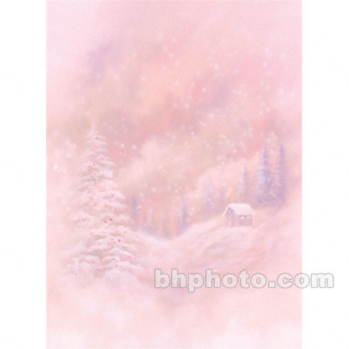 Won Background 10x20' Muslin Background - Winter Cabin