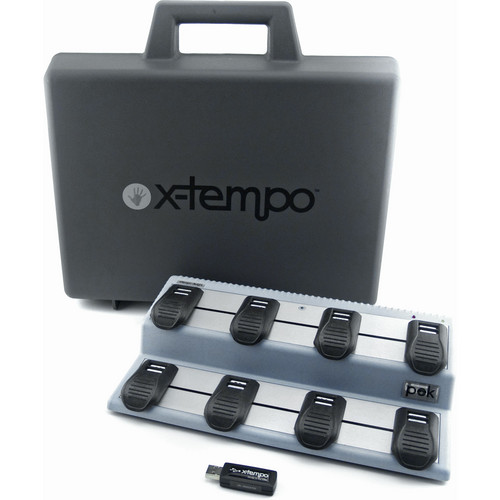 X-Tempo Designs pok - USB Wireless Foot Controller (Moonrock Blue) with Case