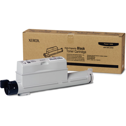 Xerox High Yield Black Toner For Phaser 6360 Color Printer