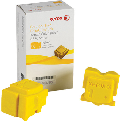Xerox 108R00928 Colorqube Ink Yellow Cartridges (2 Sticks)
