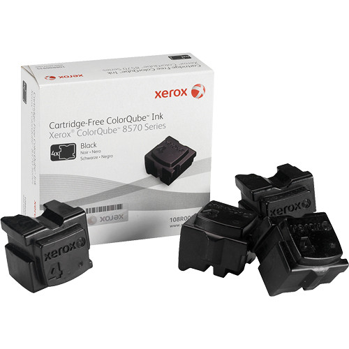 Xerox 108R00930 Colorqube Ink Black Cartridges (4 Sticks)