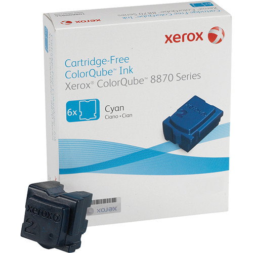 Xerox 108R00950 Colorqube Ink Cyan Cartridges (6 Sticks)