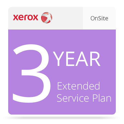 Xerox 3-Year Extended On-Site Service Plan for ColorQube 8570