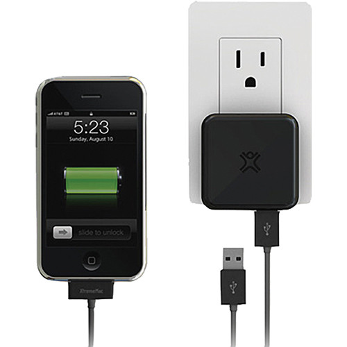 XtremeMac Incharge Home Dual USB Compact Wall Charger for iPhone and iPod Devices, 5W