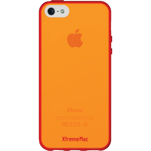 XtremeMac Microshield Accent Case for iPhone 5/5s (Red/Tangerine)