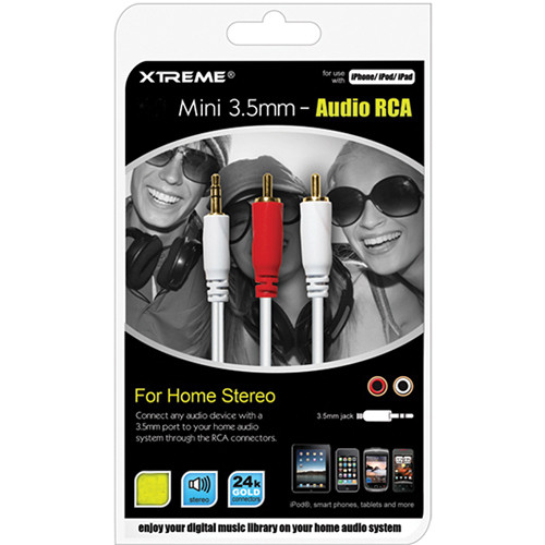 Xtreme Cables 3.5mm Mini-Audio-to-RCA Cable (12')