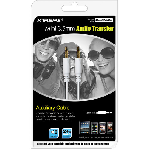 Xtreme Cables 3.5mm Mini Audio Transfer Cable (25')