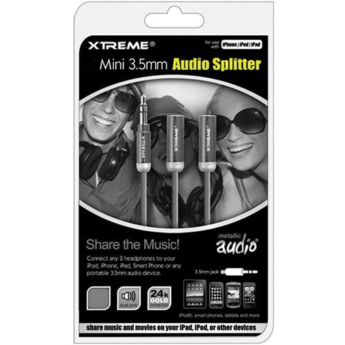 "Xtreme Cables Mini 3.5mm Metallic Audio Splitter Cable - 36"""