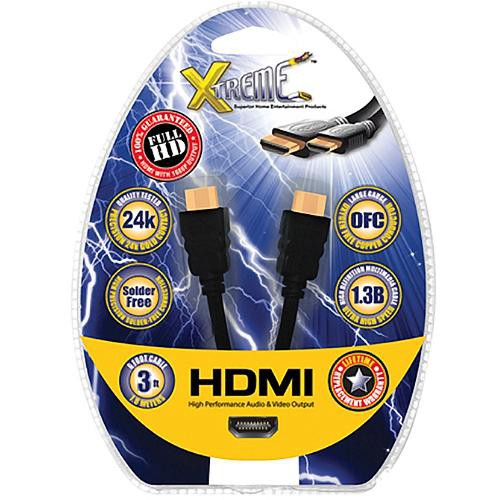 Xtreme Cables Mini HDMI (Type C) Male to HDMI (Type A) Male Cable - 3'