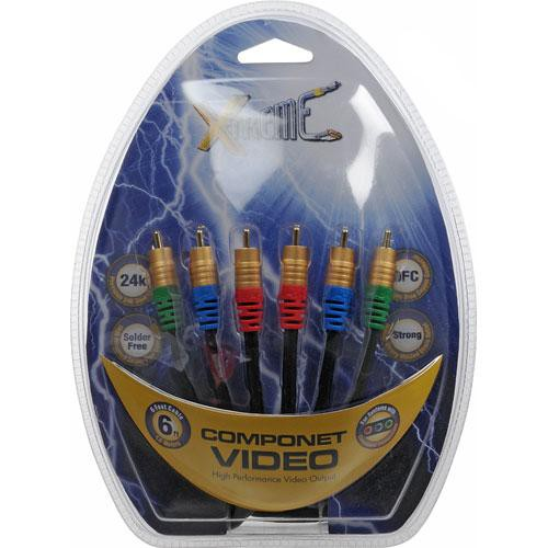 Xtreme Cables 3-RCA to 3-RCA Component Video Cable - 6'