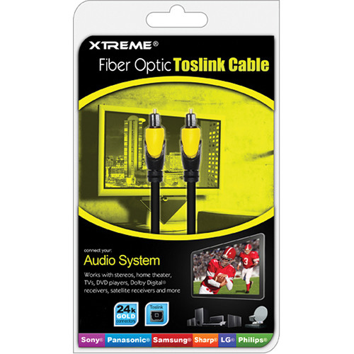 Xtreme Cables 3' Fiber Optic Toslink Cable