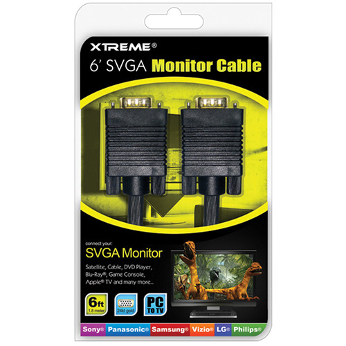 Xtreme Cables SVGA Monitor Cable - 6'