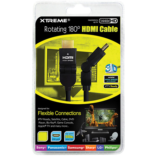Xtreme Cables Rotating Angle HDMI Cable (12')
