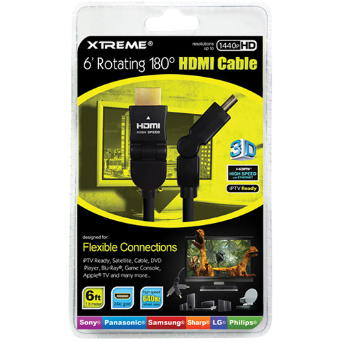 Xtreme Cables Rotating Angle HDMI Cable (6')