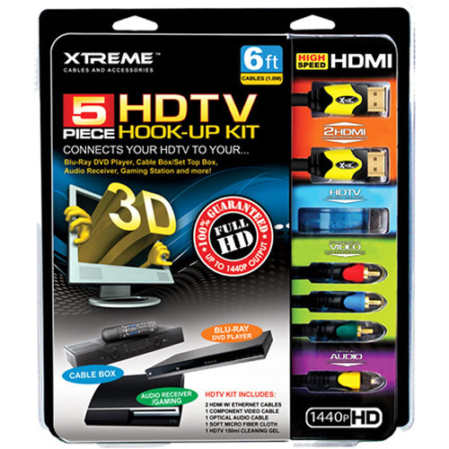 Xtreme Cables Xtreme Cable 5 Piece HDTV 1.4 Hook-Up Kit