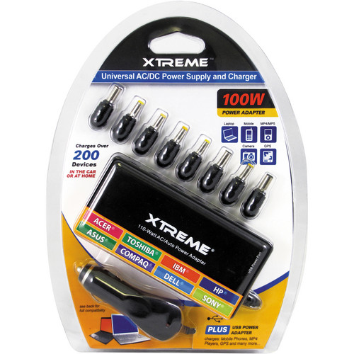 Xtreme Cables Universal AC/DC Laptop Charger (100W)