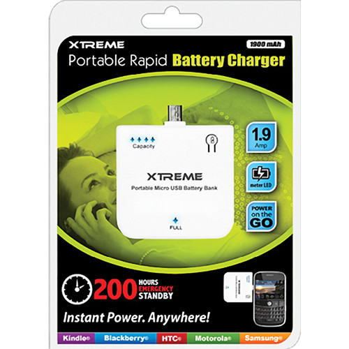 Xtreme Cables 1.9 Amp Portable Micro USB Battery Charger