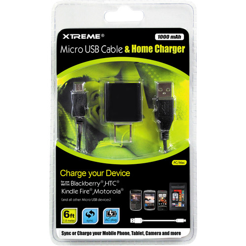 Xtreme Cables Micro USB Cable & Home Charger