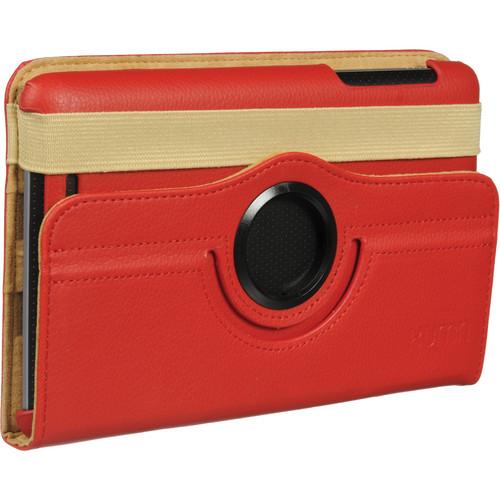 "Xuma Rotating Folio Case for Google Nexus 7"" Tablet (Red)"