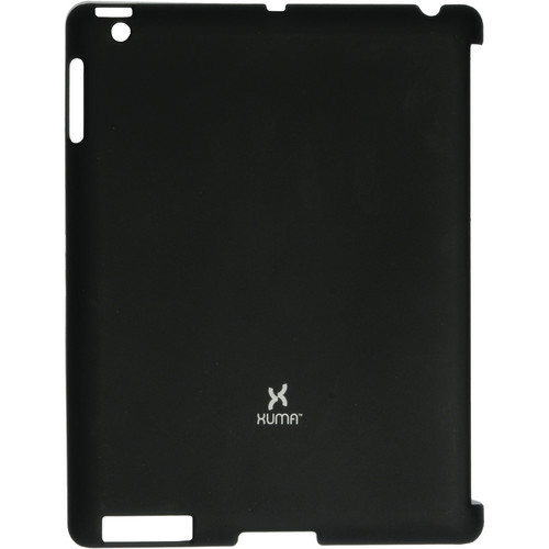Xuma Smart Cover Compatible Snap-On Case for iPad 2nd, 3rd, 4th Gen (Black)