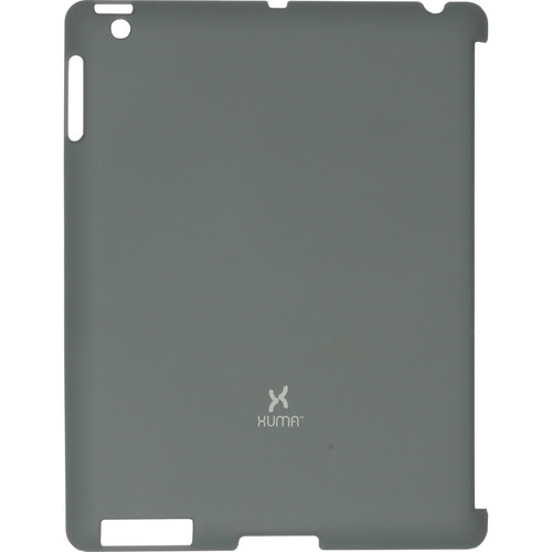 Xuma Smart Cover Compatible Snap-On Case for iPad 2nd, 3rd, 4th Gen (Dark Gray)