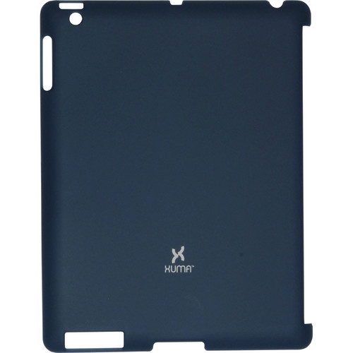 Xuma Smart Cover Compatible Snap-On Case for iPad 2nd, 3rd, 4th Gen (Navy)