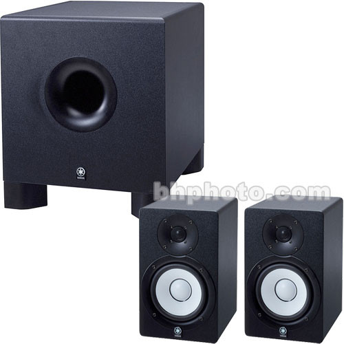 Yamaha 2.1 Monitoring System - 2 HS50M Monitors and 1 HS10W Subwoofer