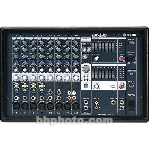 Yamaha EMX-312S Stereo Powered Mixer