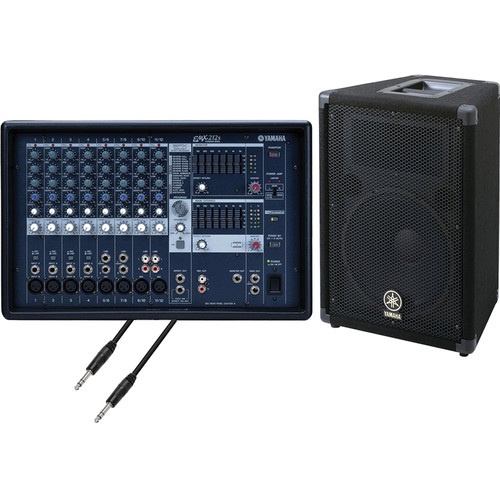 Yamaha EMX-212S Powered Mixer and Speaker System