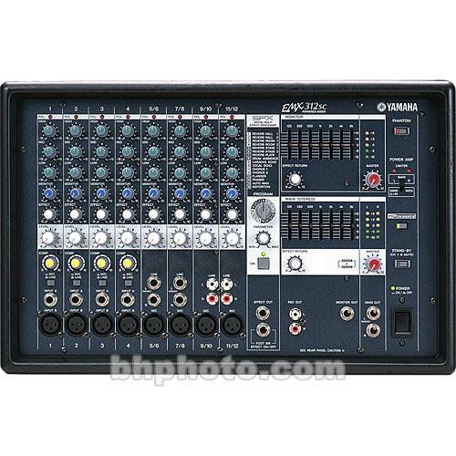 Yamaha EMX-312SC Powered Mixer & Speaker Bundle