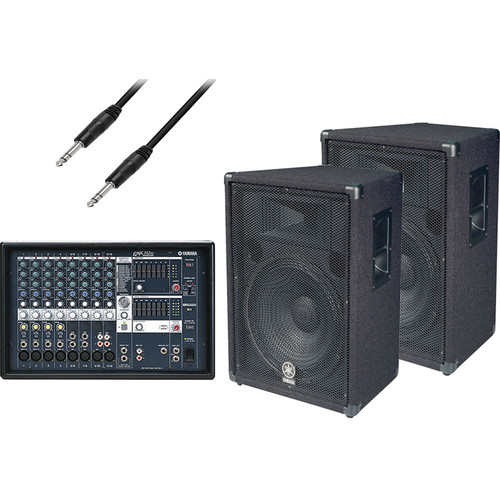 Yamaha EMX-312SC Powered Mixer & Speaker Bundle
