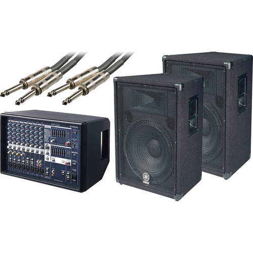 Yamaha EMX-512SC Powered Mixer and Speaker Bundle