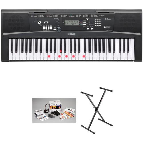 Yamaha EZ-220 Lighted 61-Key Portable Keyboard Basics Kit