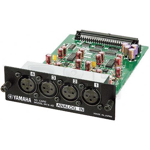 Yamaha MY4AD 4 Channel Balanced Analog Input Card for the Yamaha 02R96 and 01V Digital Consoles