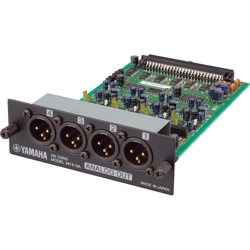 Yamaha MY4DA 4 Channel Balanced Analog Output Card for the Yamaha 02R96 and 01V Digital Consoles
