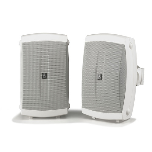 "Yamaha NS-AW150W 5"" 130 Watts Bookshelf Speaker - Pair - White"