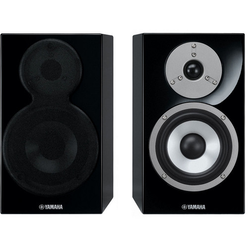 Yamaha NS-BP400 2-Way Bookshelf Speakers (Pair, Piano Black)
