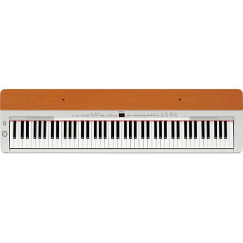 Yamaha P-155 88-Key Digital Piano (Silver/Cherry)