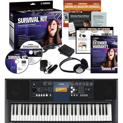 Yamaha PSR-E333 61 Key Portable Keyboard Basics B&H Kit