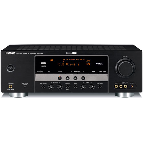 Yamaha rx v363bl 5 1 channel home theater receiver rx for Yamaha home theater amplifier