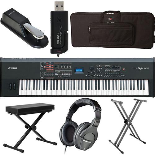 yamaha s90 xs 88 key workstation keyboard value bundle kit b h. Black Bedroom Furniture Sets. Home Design Ideas