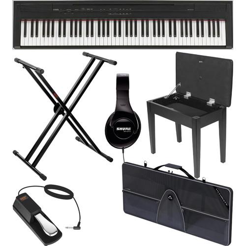 Yamaha P-105 88-Key Piano Value Bundle (Black)