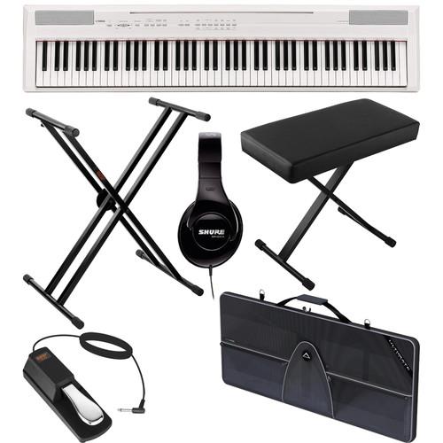 Yamaha P-105 88-Key Piano Value Bundle (White)