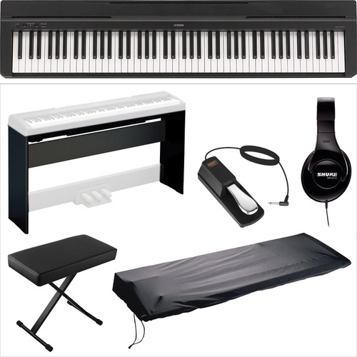 Yamaha Yamaha P-35 Compact 88-Key Piano Home Studio Kit (Black)