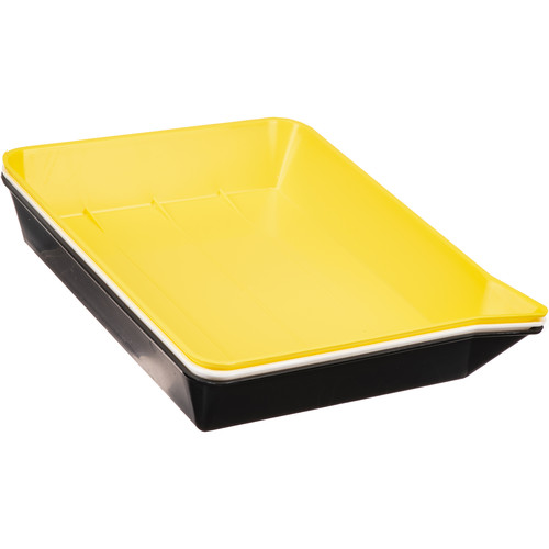 """Yankee Plastic Ribbed Developing Tray 8x10"""" - Set of 3"""