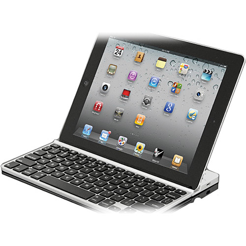 ZAGG ZAGGKeys SOLO Bluetooth Wireless Keyboard (Silver With Black Keys)