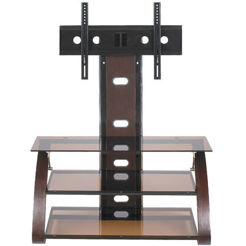 Z-Line Keira Flat Panel TV Stand with Integrated Mount (Wood Veneer)