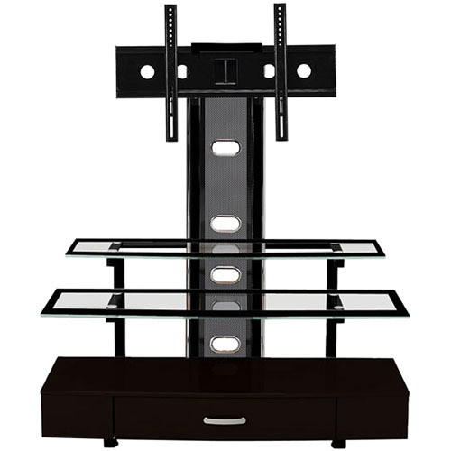 Z-Line Sync Flat Panel TV Stand with Integrated Mount (Black Finish)